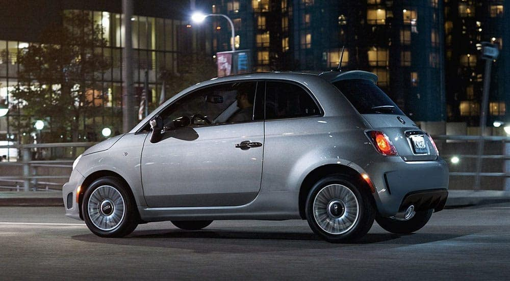 2018 FIAT 500 City in Background