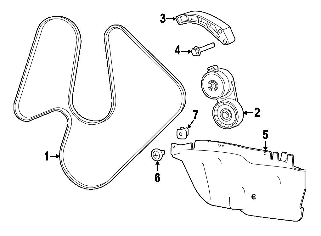 FIAT serpentine belt assembly