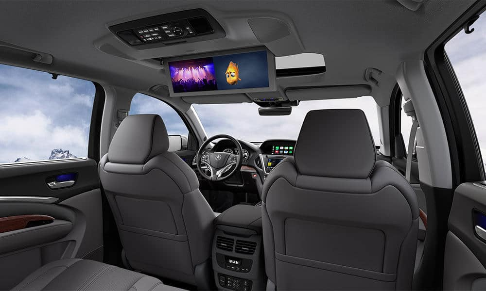 2018 Acura MDX rearview entertainment