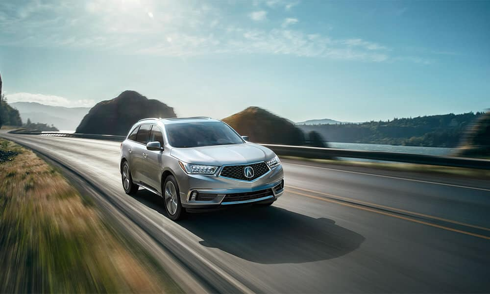 2018 Acura MDX on the highway