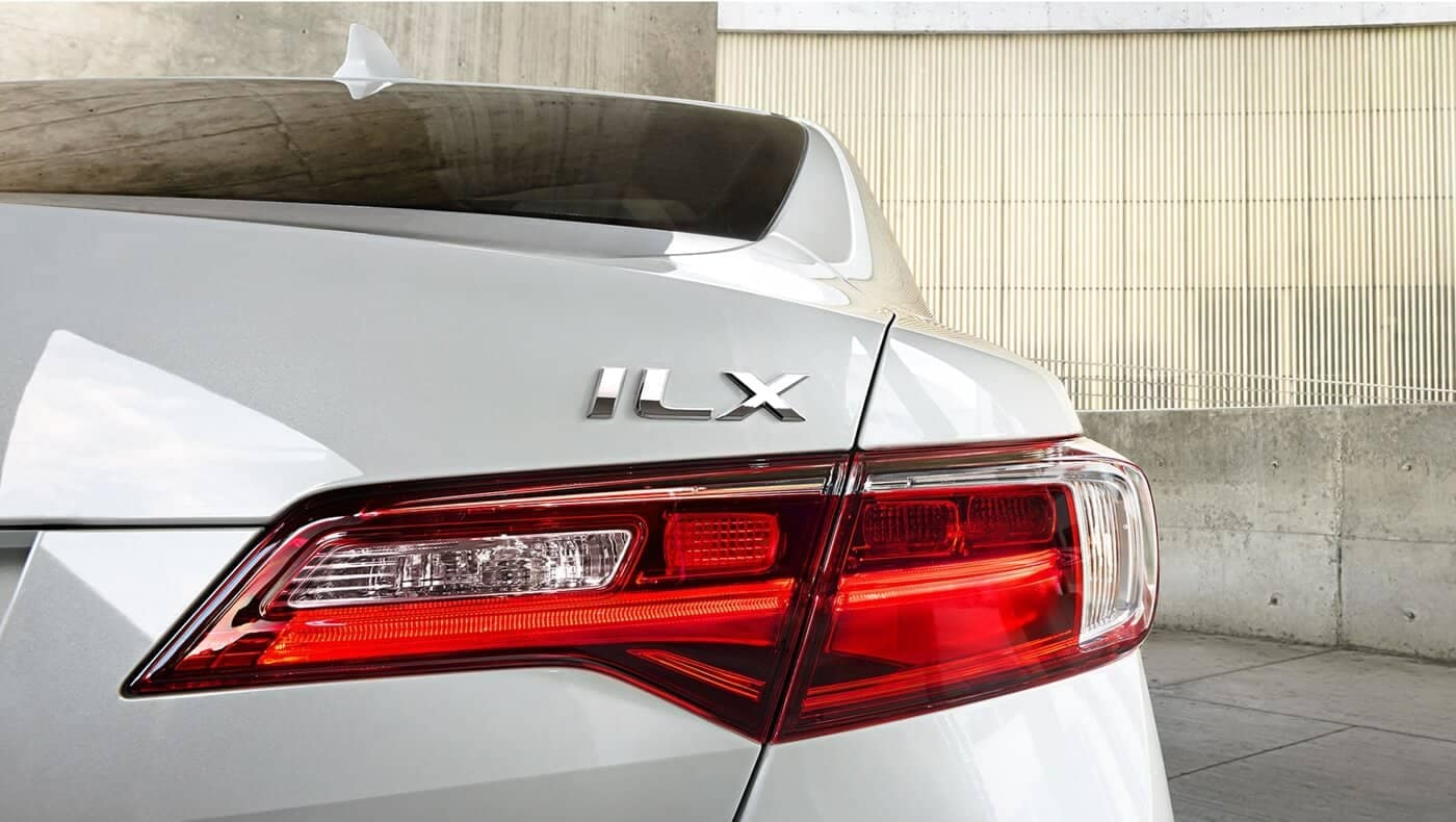2018 Acura ILX close up of tail light