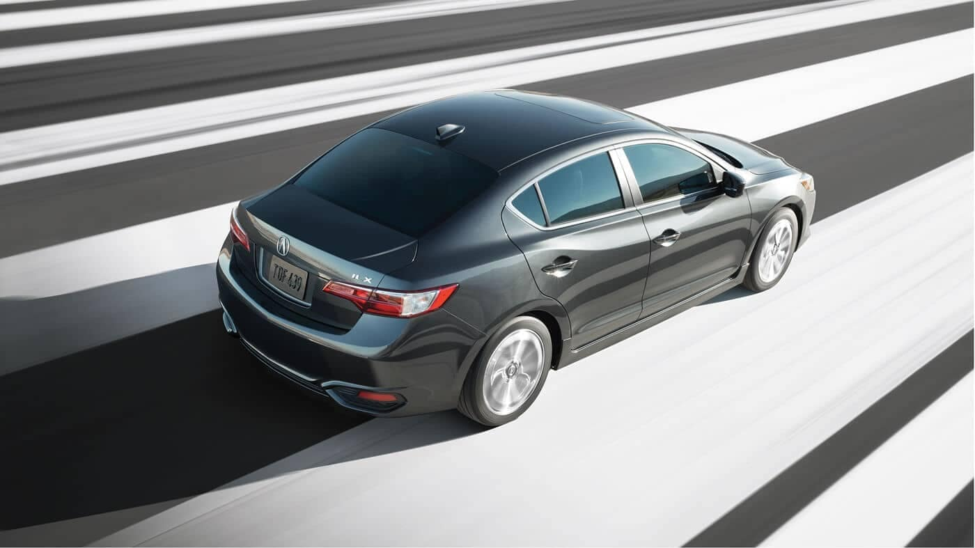 2018 Acura ILX driving down the speedway