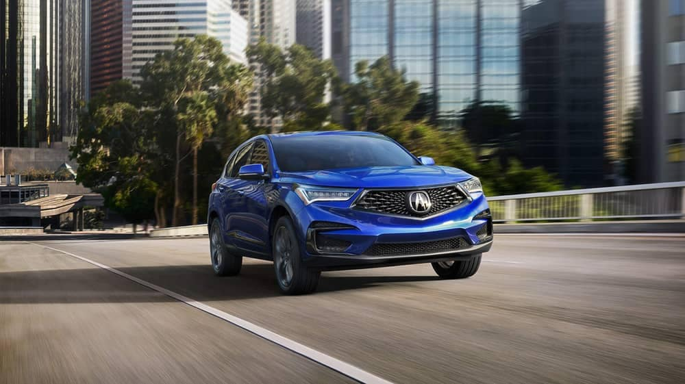 2019 Acura RDX exterior view city driving