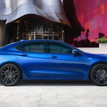 2019 Acura TLX in night blue pearl