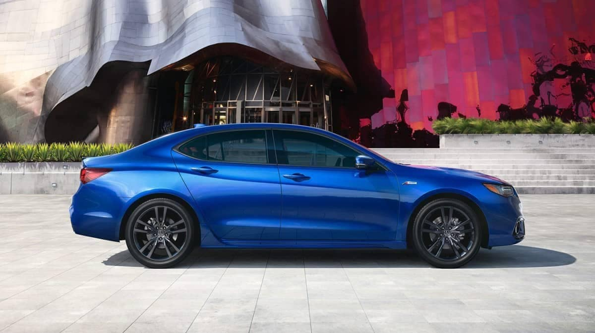 2019 Acura TLX in night blue pearl