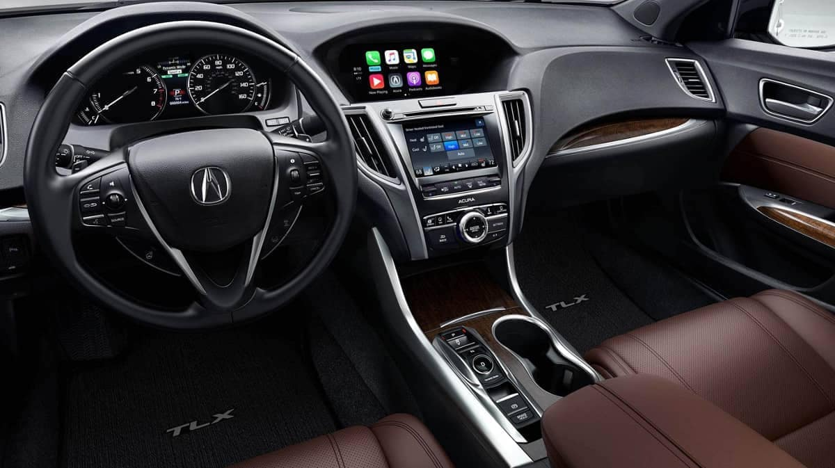 2019 Acura TLX dashboard view