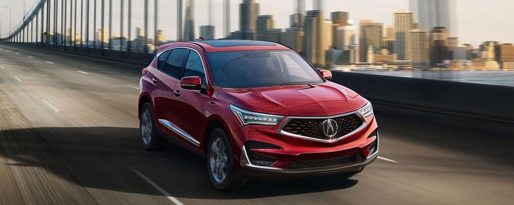 2019 Acura RDX Driving on Bridge