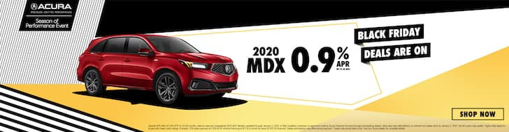 2020 Acura MDX .9% APR Black Friday Deal