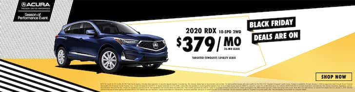2020 Acura RDX Black Friday Lease Deal