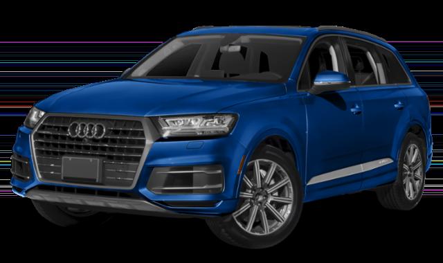 Blue 2019 Audi Q7