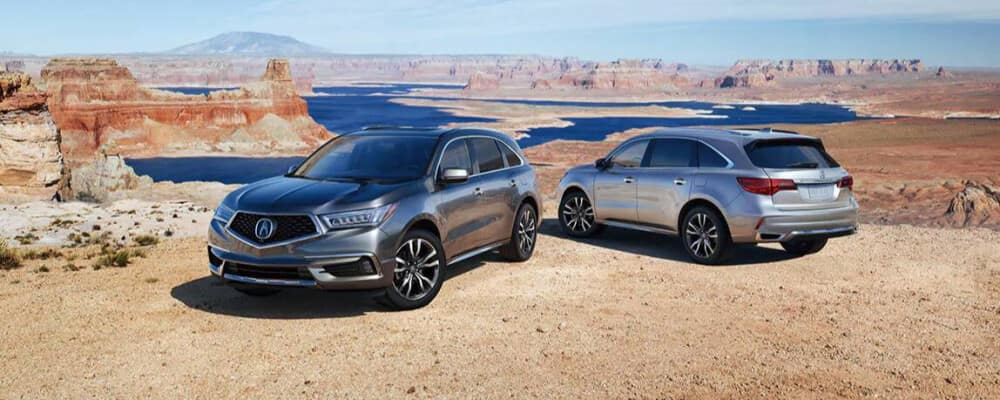 2020 Acura MDX on a mountain side