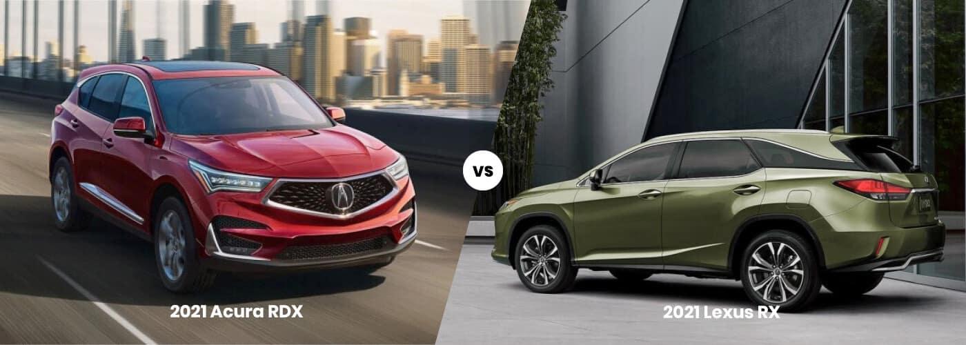 2021 Acura RDX vs Lexus NX
