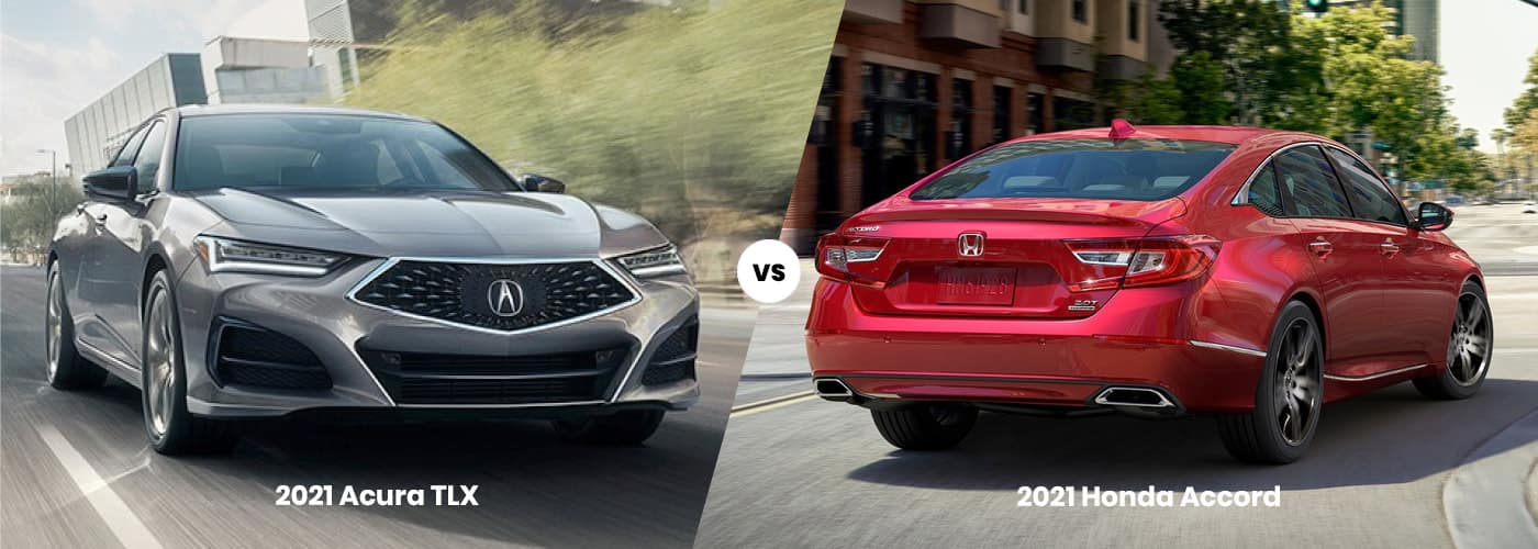 2021 Acura TLX vs Honda Accord