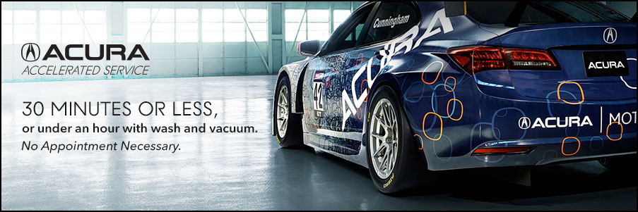 Acura Accelerated Service Banner