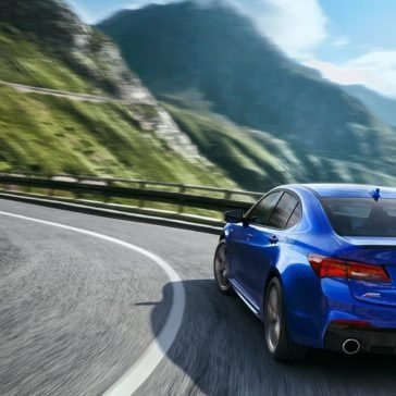 2018 Acura TLX Driving on mountain road