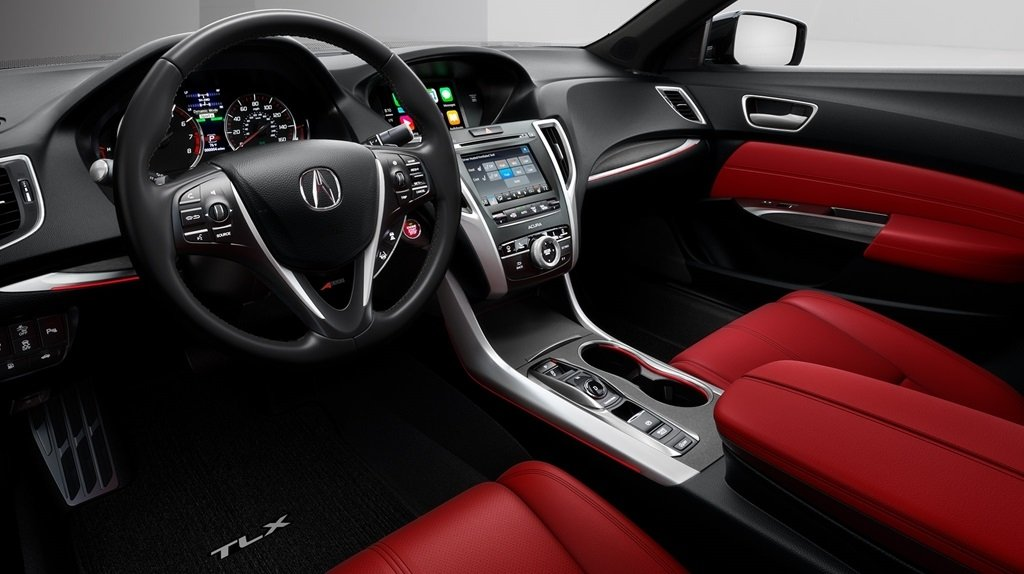 2018 Acura TLX Red Interior and Dash