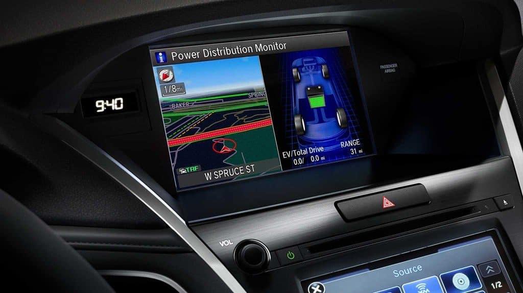 2019 Acura RLX multi-use display