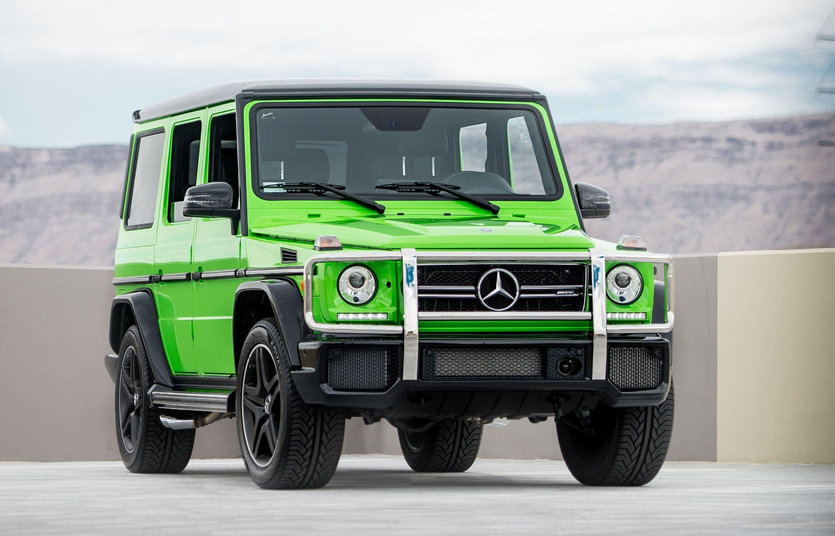 Green Mercedes-Benz AMG G-Class