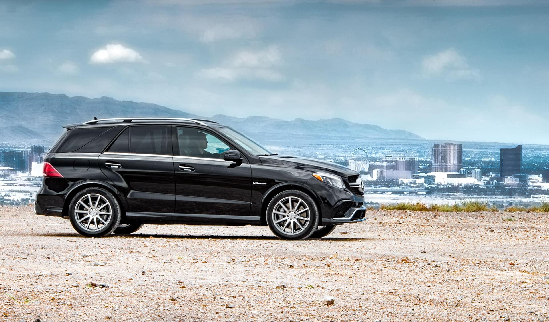 Black Mercedes-Benz GLE