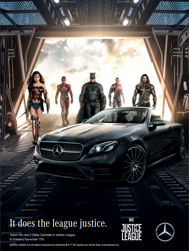 Mercedes-Benz with the Justice League