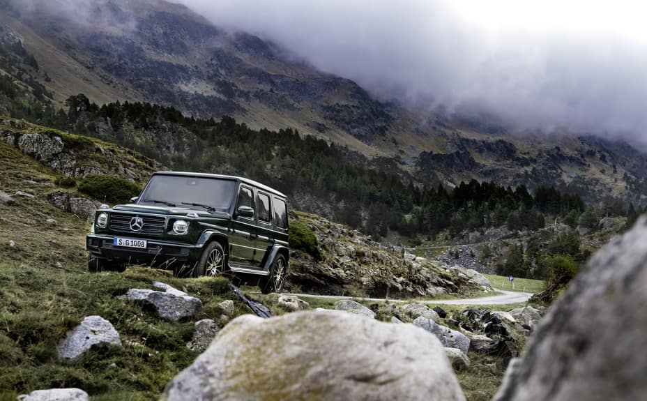 G-Class Driving though Mountain Pass