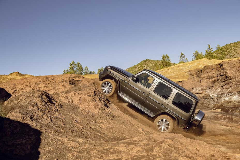 G-Class Driving up rough terrain