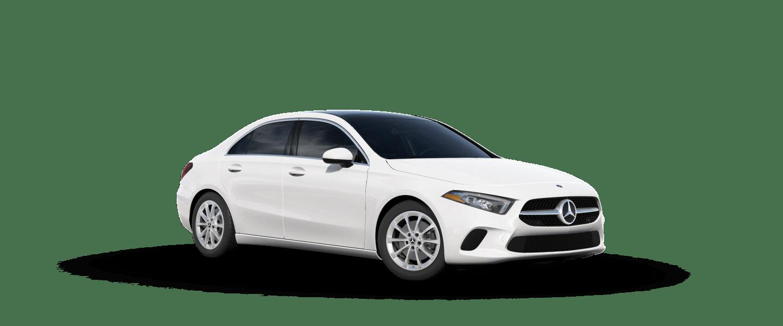 2020 Mercedes-Benz A-Class sedan in polar white