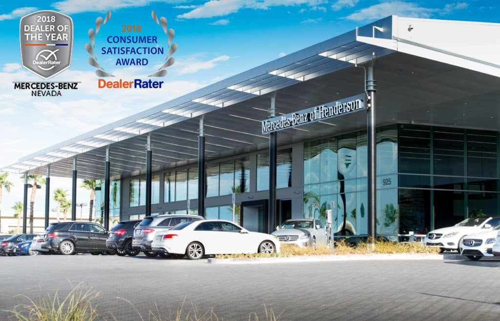 Mercedes-Benz of Henderson 2018 Dealer of the Year and 2018 Consumer Satisfaction Award
