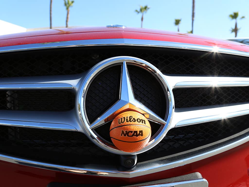 Mercedes-Benz Grille with NCAA Basketball