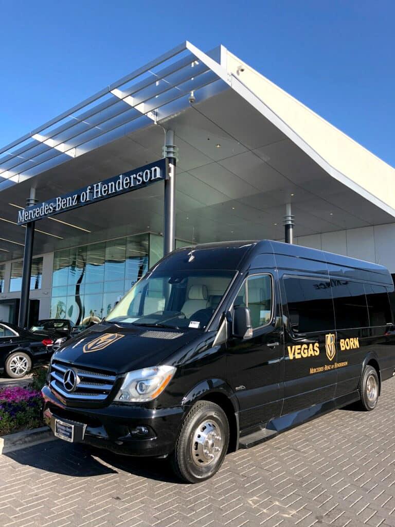 Mercedes-Benz Sprinter Van Vegas Golden Knights