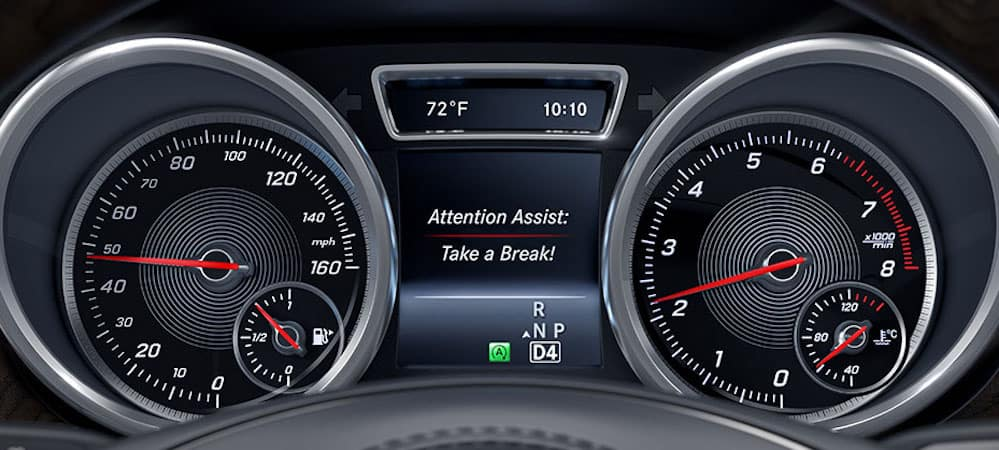 ATTENTION ASSIST display on GLS gauge cluster