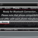 Mercedes-Benz Bluetooth display on touchscreen interface