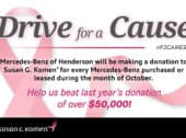 Mercedes-Benz Of Henderson: 2020 Drive For A Cause