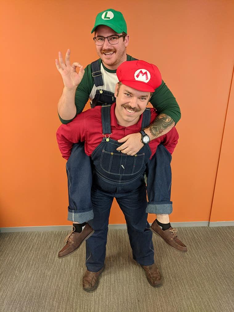 de79d801673 Joey Maganini (Luigi) Brian Angers (Mario)