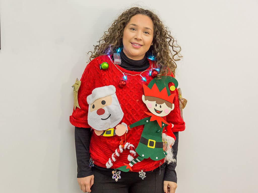 Best Ugly Christmas Sweater.Fletcher Jones Ugly Christmas Sweater Contest 2017