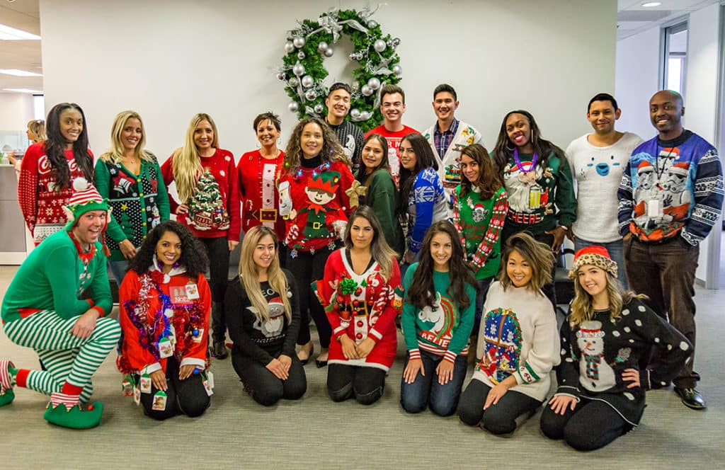 Fletcher Jones Management West Ugly Christmas Sweater Party 2017