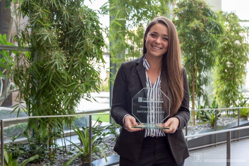Brittany Marquez Fletcher Jones Management West Outstanding Performance Award 2017