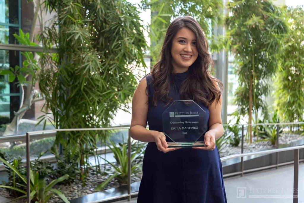 Erika Martinez Fletcher Jones Management West Outstanding Performance Award 2017