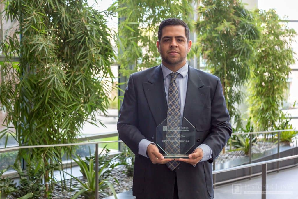 Hector Mendoza Fletcher Jones Management West Employee of the Year Award 2017