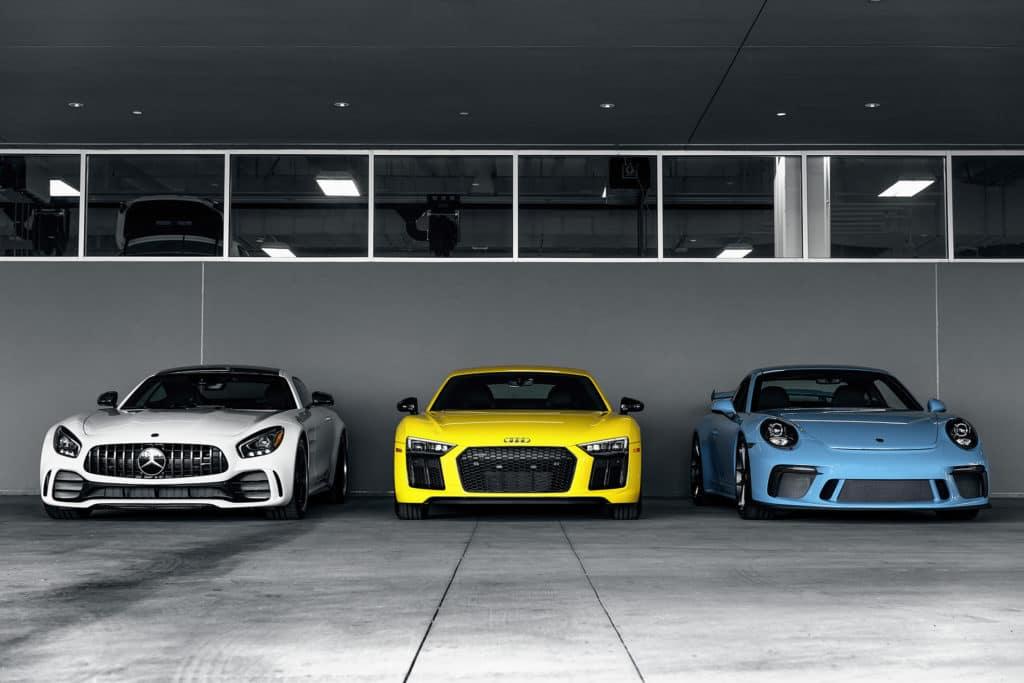 Mercedes Benz, Audi, Porsche