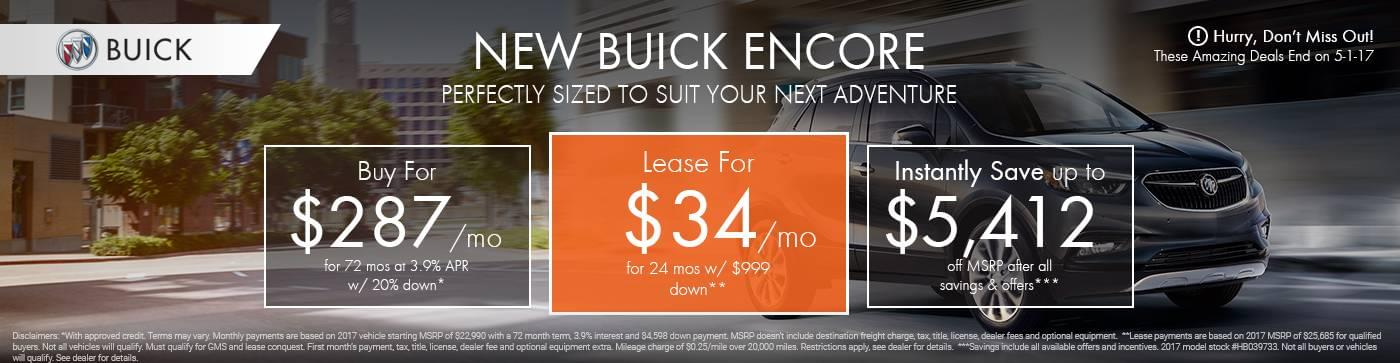 Garber Buick Saginaw Mi >> New 2017 Buick Encore For Sale in Saginaw | Garber Buick®