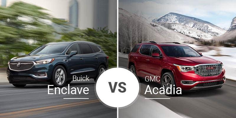 Buick Enclave Vs Gmc Acadia