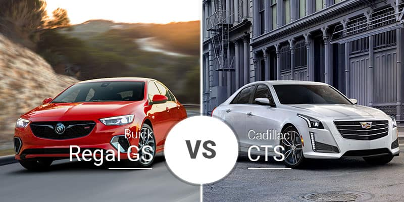 Buick Regal Gs Vs Cadillac Cts American Luxury Car Shootout