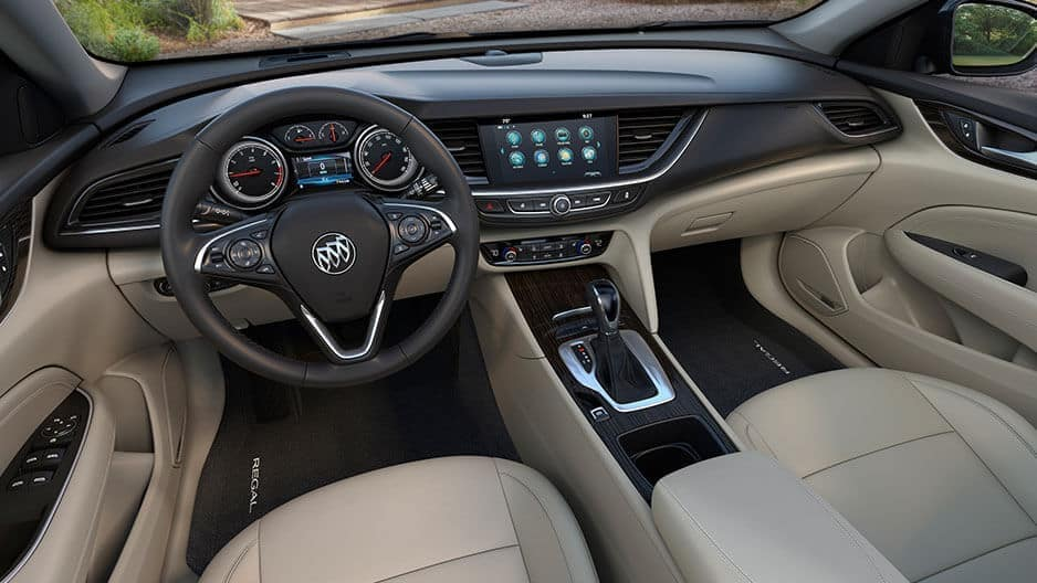 Interior Features of the New Buick Regal at Garber in Fort-Pierce, FL