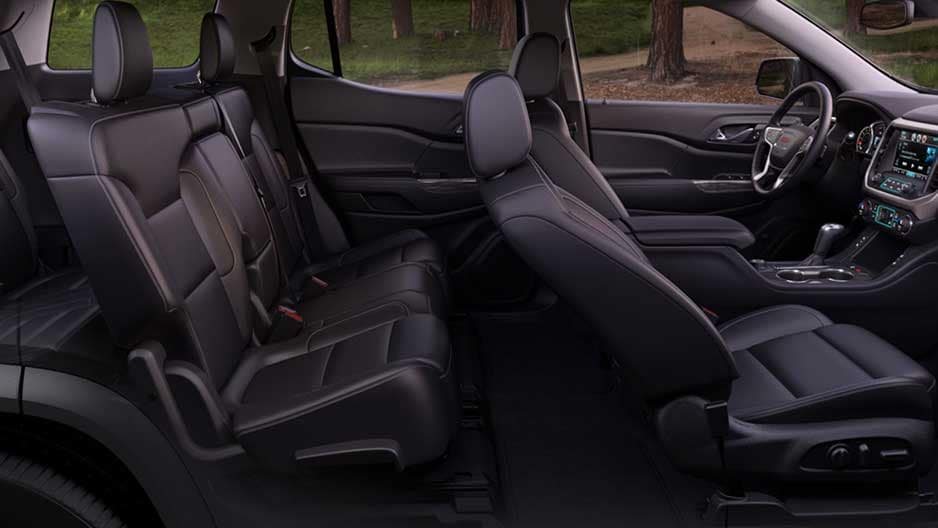 Interior Features of the New GMC Acadia at Garber in Fort-Pierce, FL