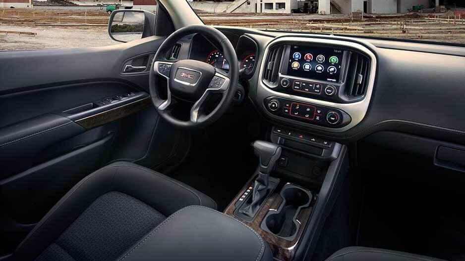 Interior Features of the New GMC Canyon at Garber in Fort-Pierce, FL