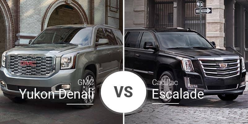 Gmc Yukon Denali Vs Cadillac Escalade Big Hauling And Bigger Luxury