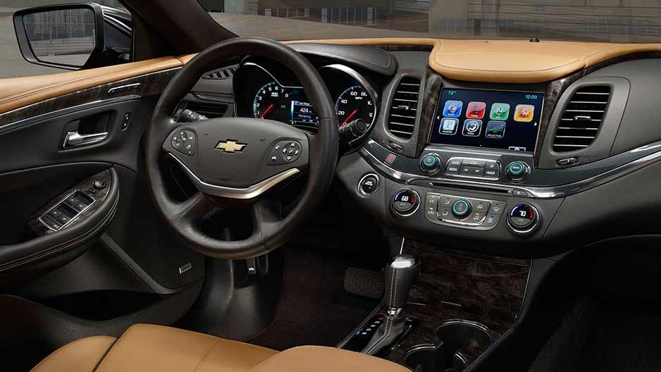 Interior Features of the New Chevrolet Impala at Garber in Midland, MI