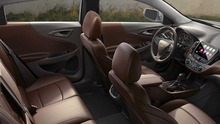 Interior Features of the New Chevrolet Malibu at Garber in Midland, MI