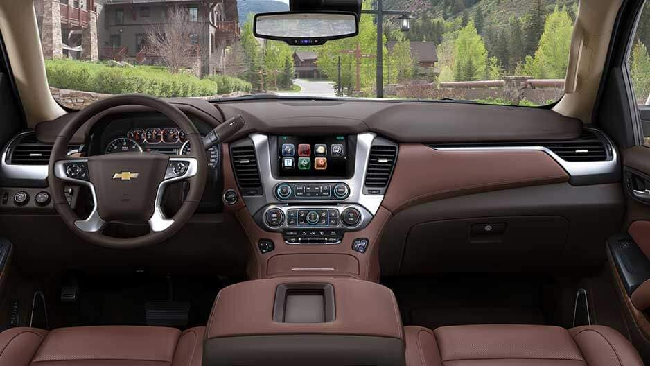 Interior Features of the New Chevrolet Suburban at Garber in Midland, MI